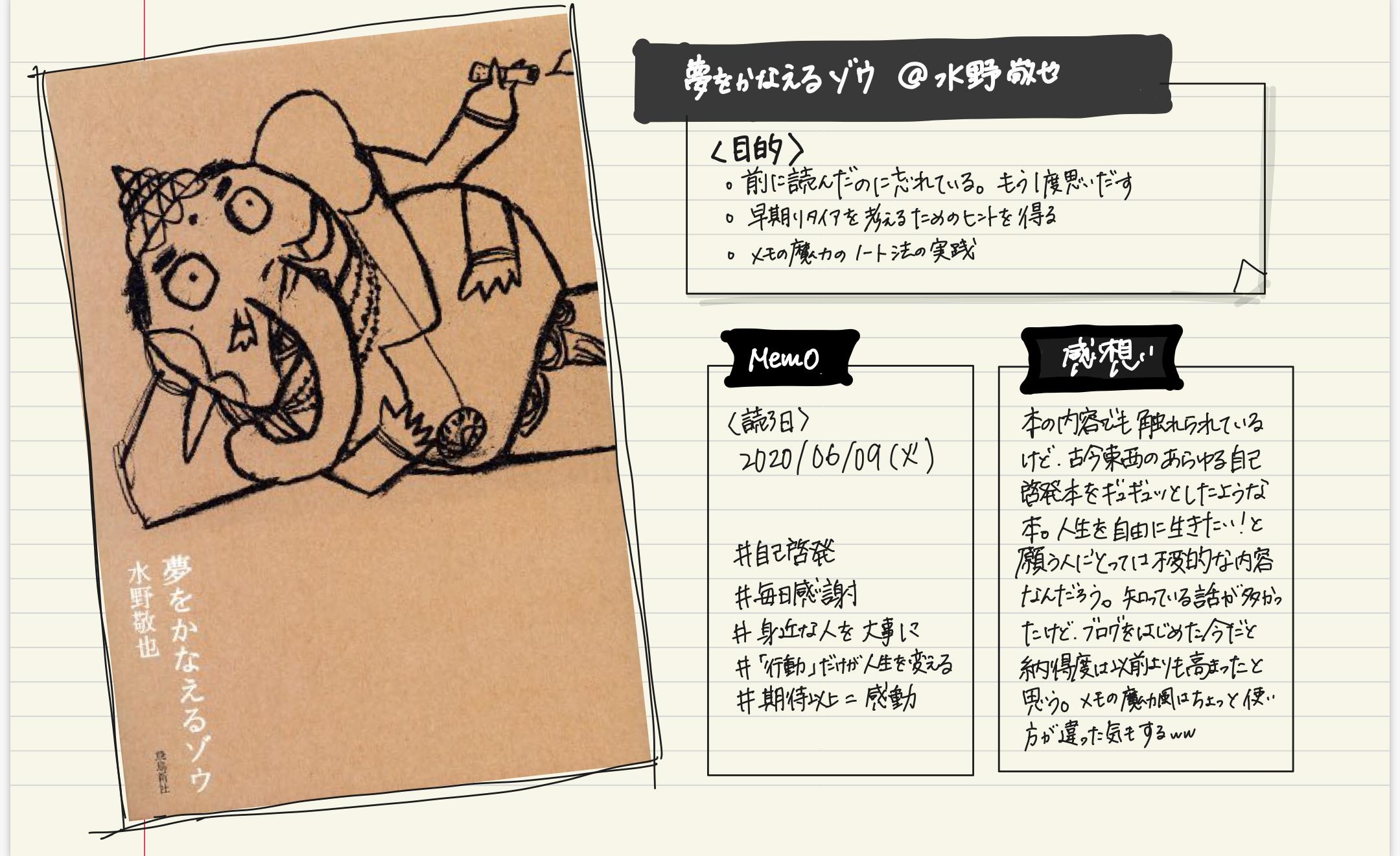 【読書感想】『夢をかなえる象』水野敬也|古今東西の自己啓発をギュギュっと凝縮